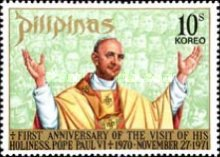 [The 1st Anniversary of Pope Paul's Visit to Philippines, Typ AHT1]