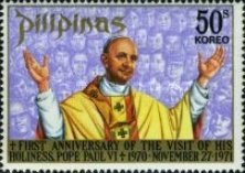 [The 1st Anniversary of Pope Paul's Visit to Philippines, Typ AHT2]