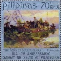 [The 25th Anniversary of Stamps and Philatelic Division, Philippines Bureau of Posts - Filipino Paintings, Typ AIA]