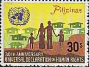 [The 30th Anniversary of Declaration of Human Rights, Typ ANH1]