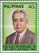 [The 100th Anniversary of the Birth of Eulogio Rodriguez (Former President of Senate), 1883-1964, Typ EDE1]