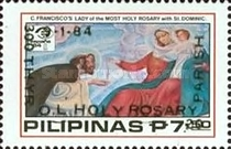 [The 300th Anniversary of Our Lady of Holy Rosary Parish - Issue of 1984 Overprinted