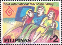 [International Year of the Family, The 75th Anniversary of I.L.O., and the 50th Anniversary of I.C.A.O., Typ FLP]