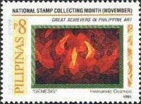 [National Stamp Collecting Month - Paintings by Filipino Artists, Typ FPY]