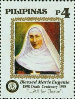 [The 100th Anniversary of the Death of Blessed Marie Eugenie (Founder of the Sisters of the Assumption), 1817-1897, Typ GBT]