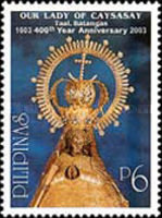 [The 400th Anniversary of Blessed Virgin of the Immaculate Conception (Our Lady of Caysasay), found by Juan Maningcad, Typ GWG]