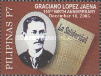 [The 150th Anniversary of the Birth of Graciano Lopez Jaena, 1856-1896, Typ HPL]