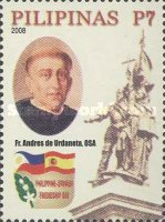 [The 500th Anniversary of the Birth of Fr. Andres de Urdaneta, 1508-1568, Typ HXU]