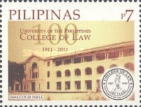 [The 100th Anniversary of the University of the Philippines - College of Law, Typ IZU]