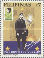 [The 150th Anniversary of the Birth of José Rizal, 1861-1896, Typ JBD]