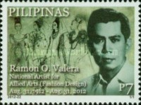 [The 100th Anniversary of the Birth of Ramon O. Valera, 1912-1972, Typ JGG]