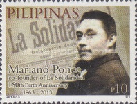 [The 150th Anniversary of the Birth of Mariano Ponce, 1863-1918, Typ JJD]