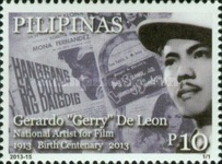 [The 100th Anniversary of the Birth of Gerardo De Leon, 1913-1981, Typ JJJ]