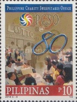 [The 80th Anniversary of the PCSO -  Philippine Charity Sweepstakes Office, Typ JLS]