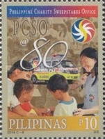[The 80th Anniversary of the PCSO -  Philippine Charity Sweepstakes Office, Typ JLT]