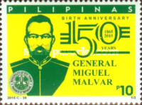 [The 150th Anniversary of the Birth of General Miguel Malva, 1865-1911, Typ JSO]