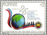 [The 25th Anniversary of the CHED - Commission on Higher Education, type KII]