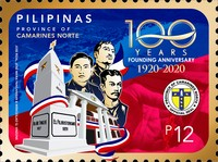 [The 100th Anniversary of the Founding of the Province of Camarines Norte, type KJR]