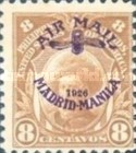 """[Airmail - Madrid-Manila Flight - Stamps as last, Overprinted """"AIR MAIL 1926 MADRID-MANILA"""" and Aeroplane Propeller, type LE]"""