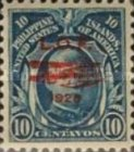 """[Airmail - London-Orient Flight by British Squadron of Seaplanes - Issues of 1906 Overprinted """"L.O.F. (= London Orient Flight), 1928"""" and Fairey IIID Seaplane, type LV]"""