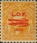 """[Airmail - London-Orient Flight by British Squadron of Seaplanes - Issues of 1906 Overprinted """"L.O.F. (= London Orient Flight), 1928"""" and Fairey IIID Seaplane, type LY]"""