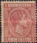 [King Alfonso XII - Value in Cents de Peso, Typ P]