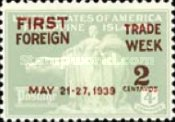 [The 1st National Foreign Trade Week - Overprinted