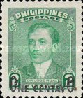 [Issue of 1948 Surcharged ONE CENTAVO, type TQ]