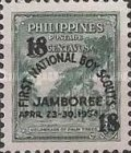 """[Issues of 1947 and 1952 Overprinted """"FIRST NATIONAL BOY SCOUTS JAMBOREE APRIL 23-30, 1954"""" or Surcharged Also, type VF]"""