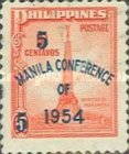 """[Issues of 1947 Overprinted """"MANILA CONFERENCE OF 1954"""" and Surcharged Value, type VL1]"""