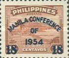 """[Issues of 1947 Overprinted """"MANILA CONFERENCE OF 1954"""" and Surcharged Value, type VL2]"""