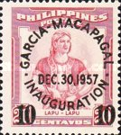 [Inauguration of President Carlos P. Garcia and Vice-President Diosdado Macapagal - Issues of 1952 Overprinted