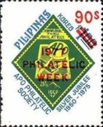 [Philatelic Week - Surcharged 90s and Overprinted