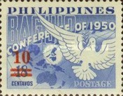 [Issues of 1950 and 1954 Surcharged, type XW]
