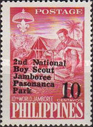 [The 2nd National Scout Jamboree - Zamboanga, Philippines - Issues of 1959 Overprinted