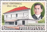 [The 100th Anniversary of the Birth of Dr. Jose Rizal, 1861-1896, Typ YL]