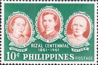 [The 100th Anniversary of the Birth of Dr. Jose Rizal, 1861-1896, Typ YM]