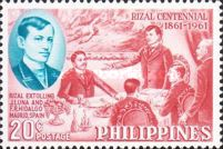 [The 100th Anniversary of the Birth of Dr. Jose Rizal, 1861-1896, Typ YN]