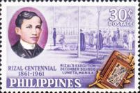 [The 100th Anniversary of the Birth of Dr. Jose Rizal, 1861-1896, Typ YO]