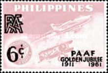 [Philippine Amateur Athletic Federation's Golden Jubilee - Issue of 1960 Overprinted