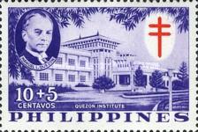 [Tax for the Philippine Tuberculosis Society - Manuel Quezon & the Quezon Institute, Typ A1]