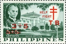 [Tax for the Philippine Tuberculosis Society - Manuel Quezon & the Quezon Institute Stamps of 1958 Overprinted