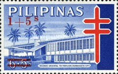 [Tax for the Philippine Tuberculosis Society - Negros Oriental TB Pavilion Stamps of 1964 Surcharged, Typ F4]
