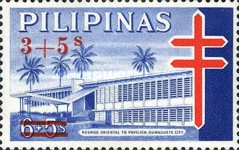 [Tax for the Philippine Tuberculosis Society - Negros Oriental TB Pavilion Stamps of 1964 Surcharged, Typ F5]