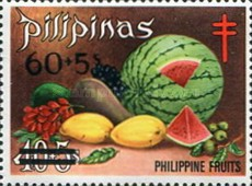 [Tax for the Philippine Tuberculosis Society - Fruits Stamps of 1972 Surcharged, type U1]