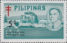 [Tax for the Philippine Tuberculosis Society - Stamps of 1970 & 1974 Surcharged, type W2]