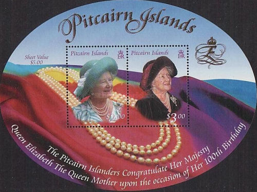 [The 100th Anniversary of the Birth of Queen Elizabeth the Queen Mother, 1900-2002, Typ ]