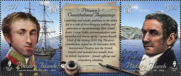 [The 180th Anniversary of the Constitution of Pitcairn, type ]
