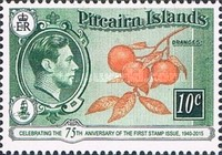 [The 75th Anniversary of the First Pitcairn Islands Postage Stamp, type A1]