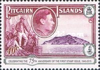 [The 75th Anniversary of the First Pitcairn Islands Postage Stamp, type B1]